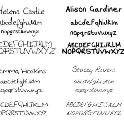 Fonts created from handwriting for Internet Privacy