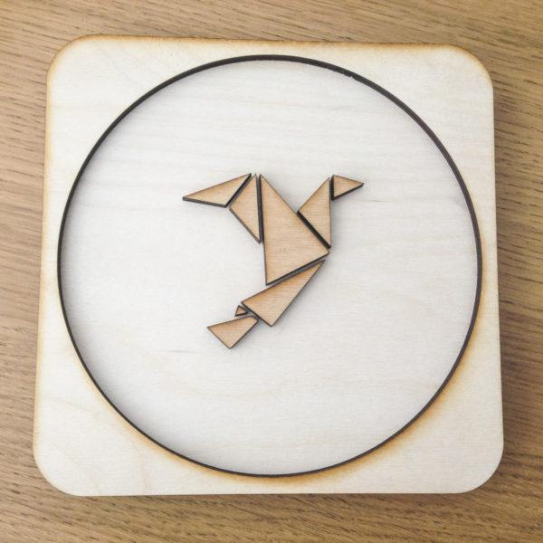 Origami Bird Wooden Frame
