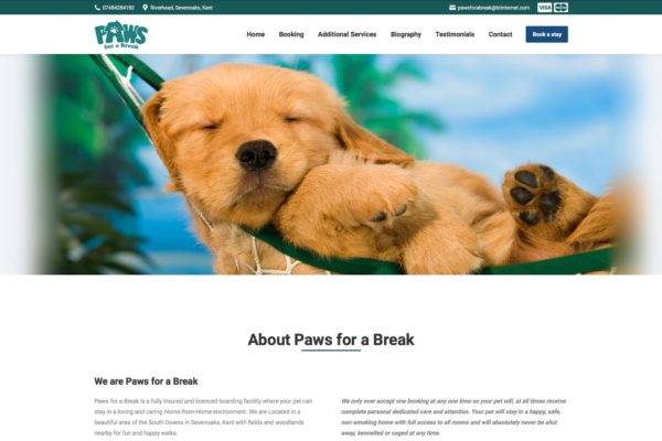 Paws for a break website